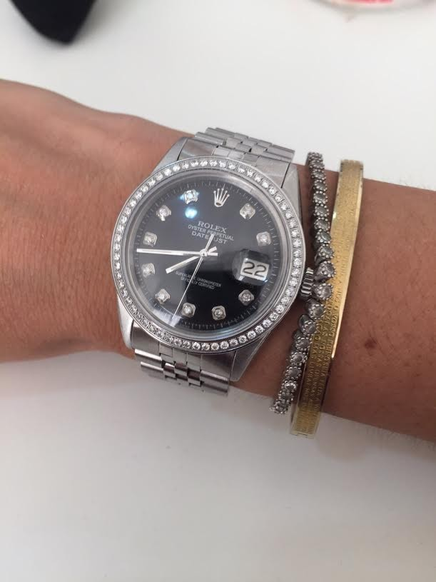 Rolex Datejust 36mm com brilhantes