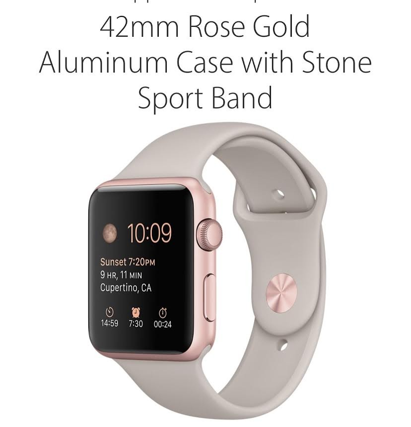 Iwatch 42mm Rosa- Apple (NOVO)